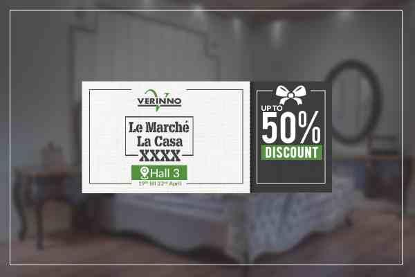 عروض Verinno للاثاث فى معرض لو مارشيه من 19 حتى 22 ابريل 2018