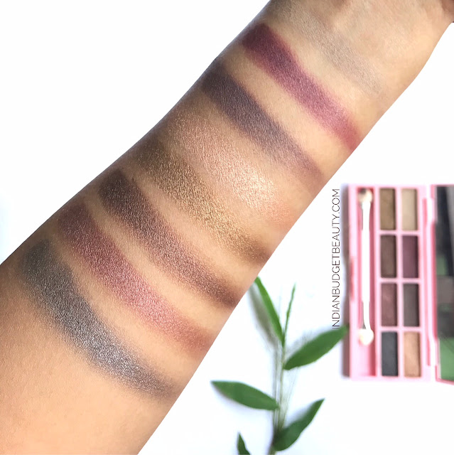 eyeshadow palette by nanda swatches