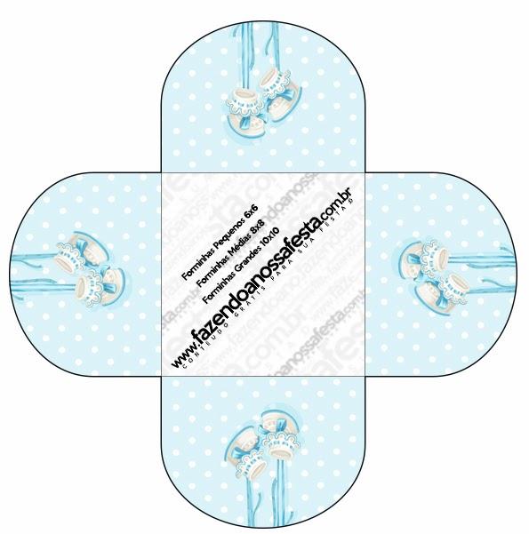 Zapatitos de Bebé: Cajas para Imprimir Gratis.   Ideas y material ...