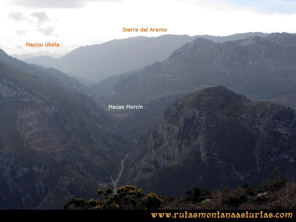 Ruta Baiña, Magarrón, Bustiello, Castiello. Desde el Pico Bustiello, las Mazas de Morcín, el Aramo y Ubiña