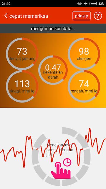 Proses Cek Kesehatan Jantung Menggunakan iCare Health Monitor