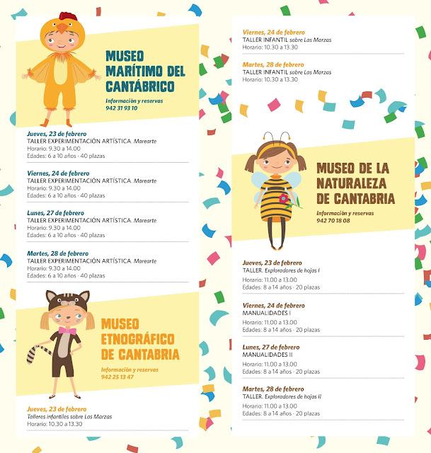 Actividades de carnaval para niños en los Museos de Cantabria