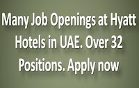 Many Job Openings at Hyatt Hotels in UAE