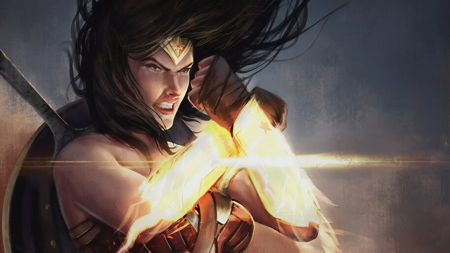 Wonder Woman, Art, DC, Superhero, 4K, #6.1342