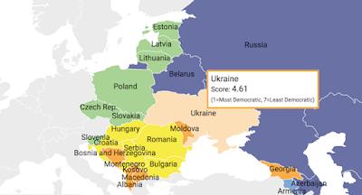 Україна погіршила позиції у рейтингу розвитку демократії
