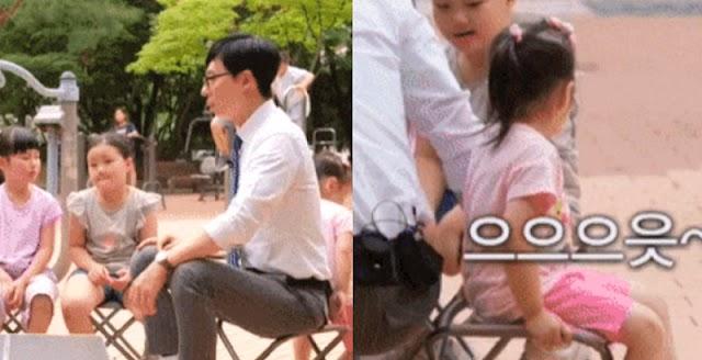 Yoo Jae Suk es expulsado de su propio asiento por una niña que estaba demasiado cansada