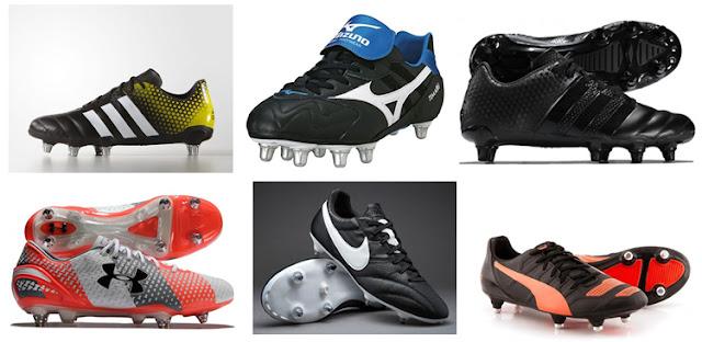 Las botas de la Copa del Mundo de Rugby de Inglaterra