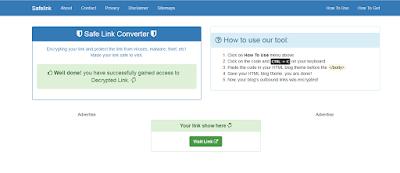 Blog Safelink untuk Adsense