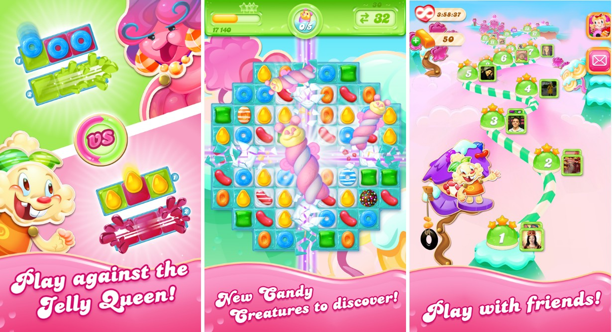 Candy Crush Jelly Saga Game - Screenshots