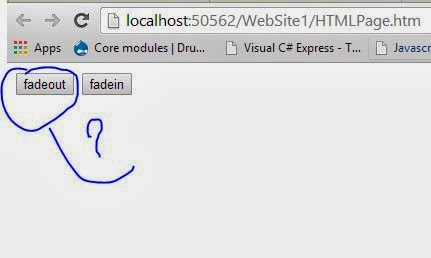 Element fadeout, FadeIn using Java Script