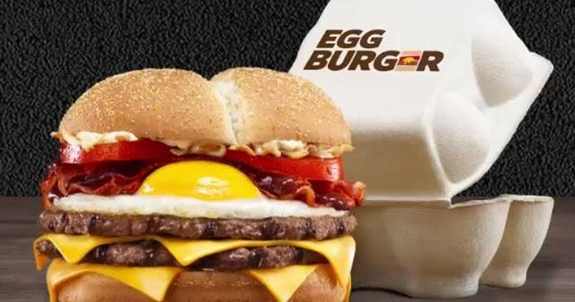 Burger King Serves Sunny Side Egg-Topped Burger in Egg Carton in France | Brand Eating