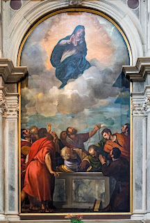 Titian's Assumption of the Virgin in the Duomo at Verona