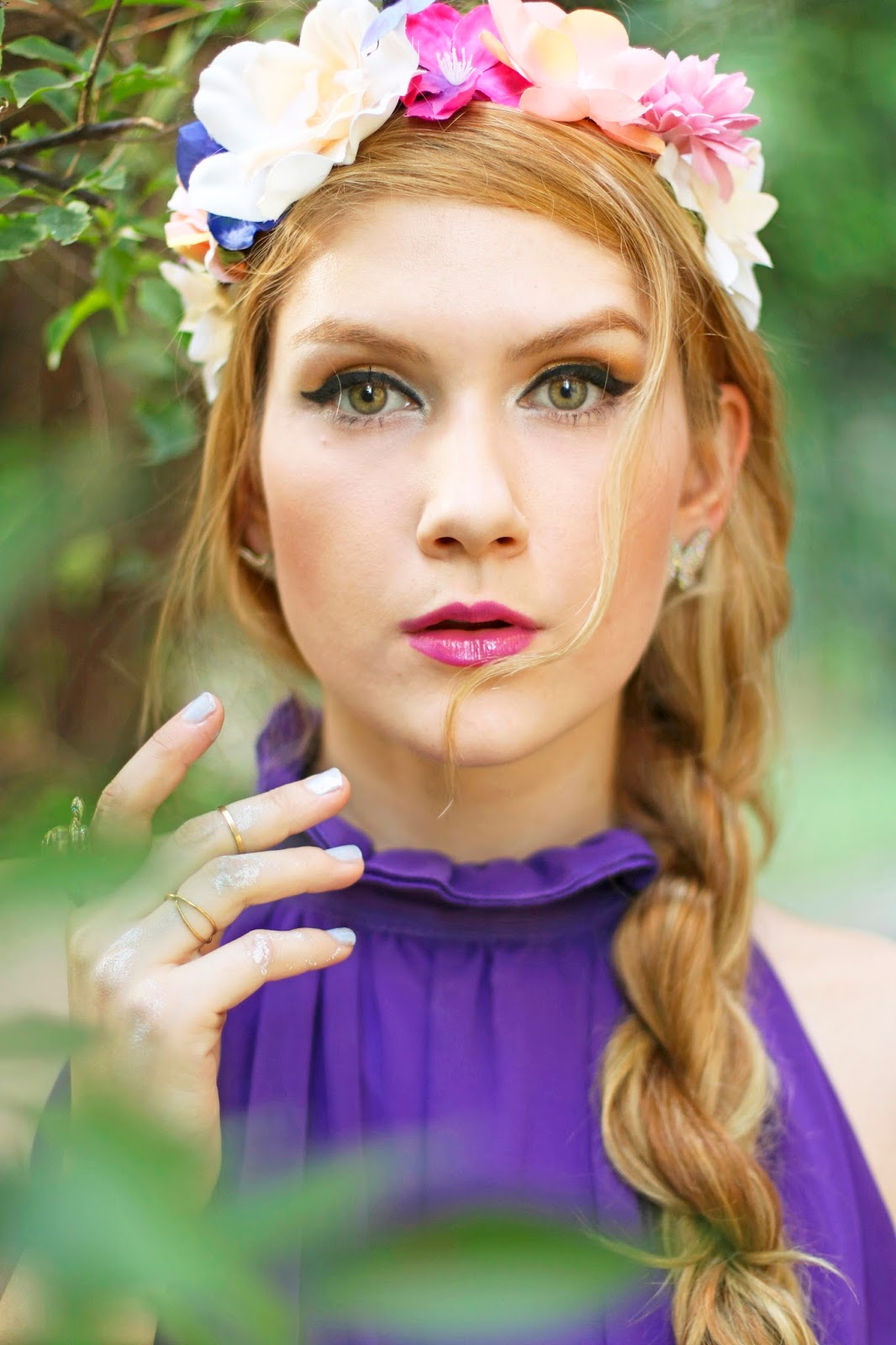 The joy of fashion outfit purple goddess and flower crown floral crowns are the perfect accessory for spring izmirmasajfo