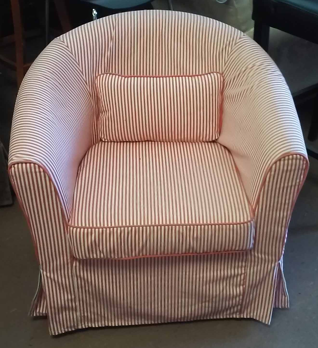 Red Striped Chair Uhuru Furniture And Collectibles Sold Red And White Striped