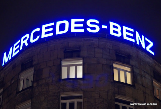 Warszawa Warsaw neony warszawskie światła mercedes benz