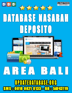 Jual Database Nasabah Deposito Bali