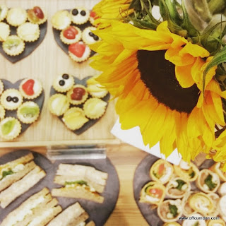 Sunflowers and food