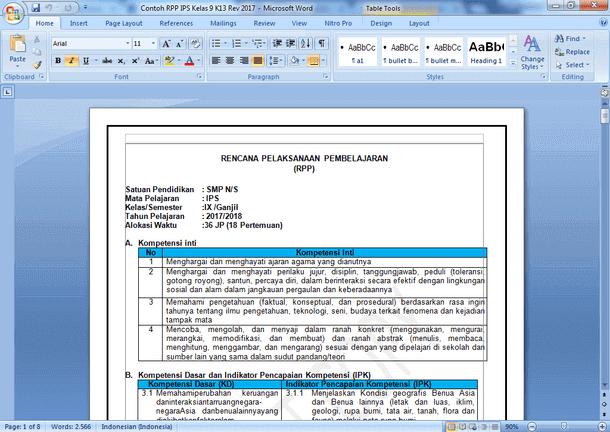 Berikut ini adalah berkas Contoh RPP IPS Kelas  Contoh RPP IPS Kelas 9 Kurikulum 2013 dengan PPK, Literasi, HOTS dan 4C
