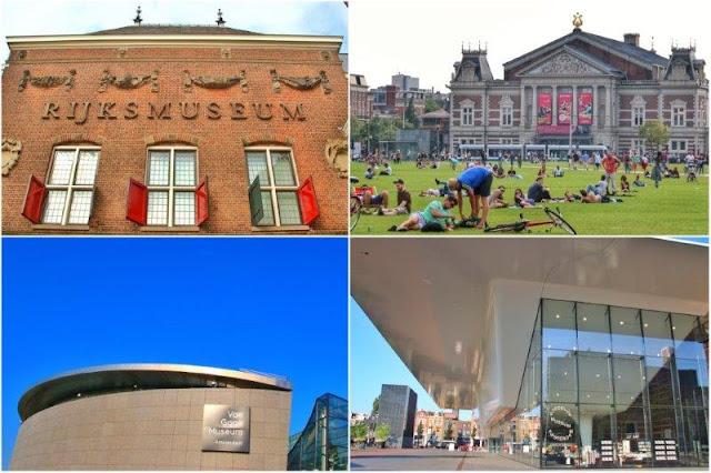 Rijksmuseum, Concertgebouw, Museo Van Gogh, Stedelijk Museum en Museumplein, Amsterdam