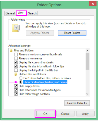 Cara Menonaktifkan Fitur View Hidden Files and Folders