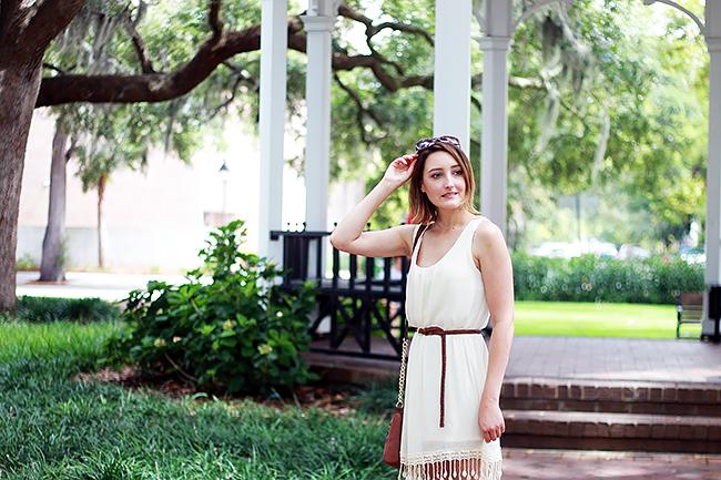 White Tassel Summer Dress
