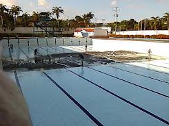 "Imdafef acondiciona piscina olímpica ""América Bendito"" para reinicio de actividades"