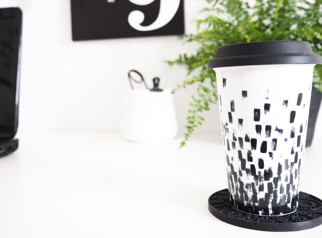 monochrome vera wang travel mug