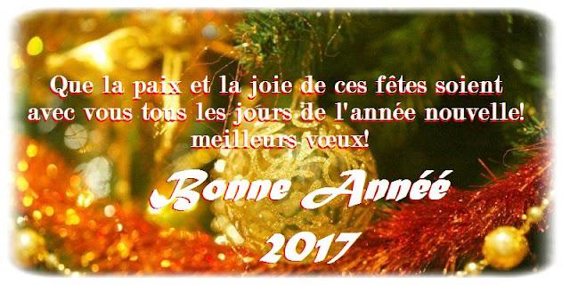 Bel message d'amitié bonne année 2017