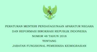 Permenpan RB Nomor 48 Tahun 2018 Wacana Jabatan Fungsional Pemeriksa Keimigrasian