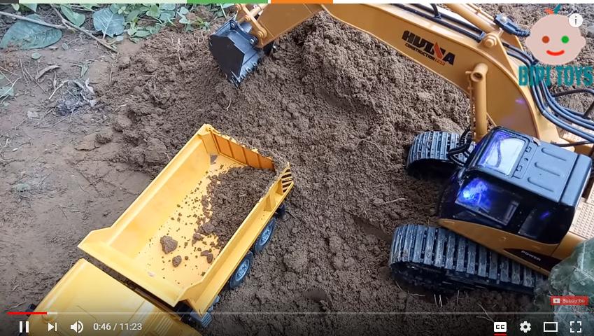 Dump truck toys - Excavator, woa kids toys utube - toys and funny kids - kids toys youtube brazil