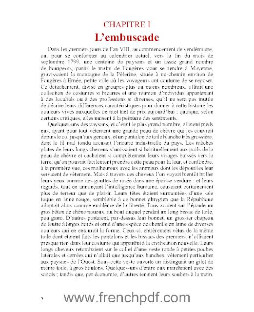 Les chouans en pdf : Honoré de Balzac à télécharger gratuitement