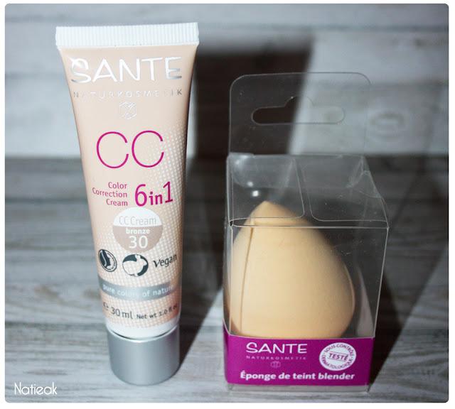 CC cream 6 en 1 et blender éponge de teint de Santé