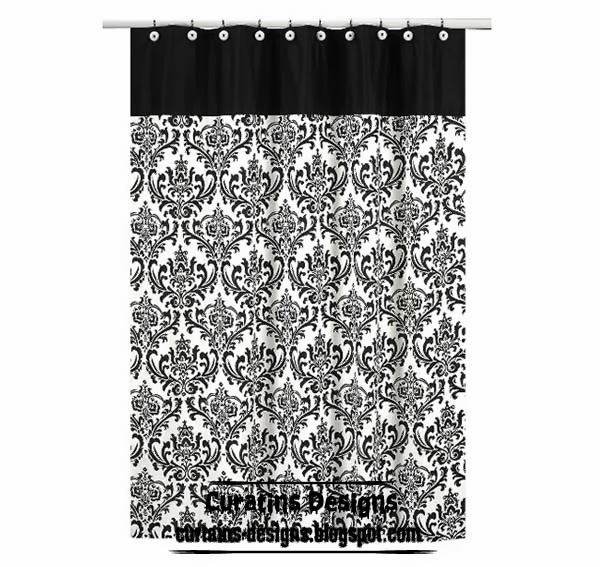 Damask Shower Curtain Choose Length And Color