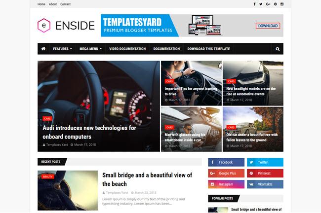 Enside – Responsive Blogger Template