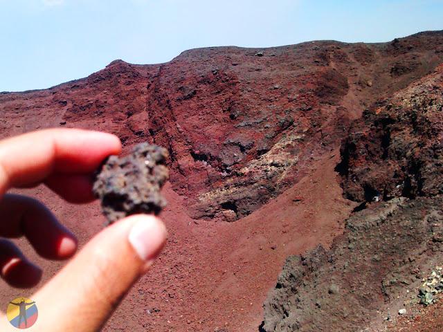 Roca volcánica Etna