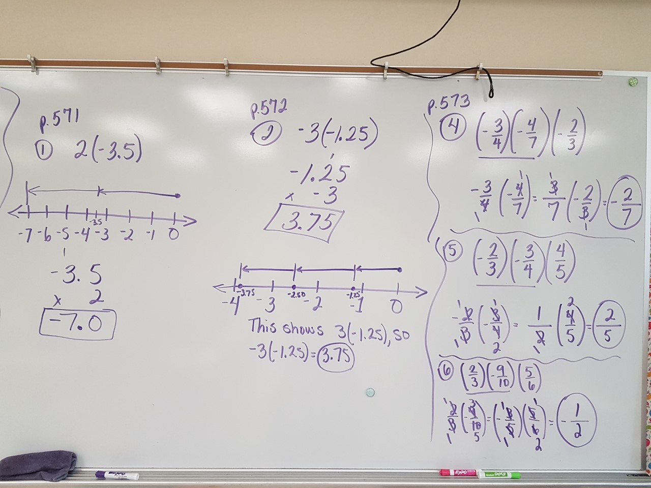 Mrs Negron 6th Grade Math Class Multiplying Rational Numbers