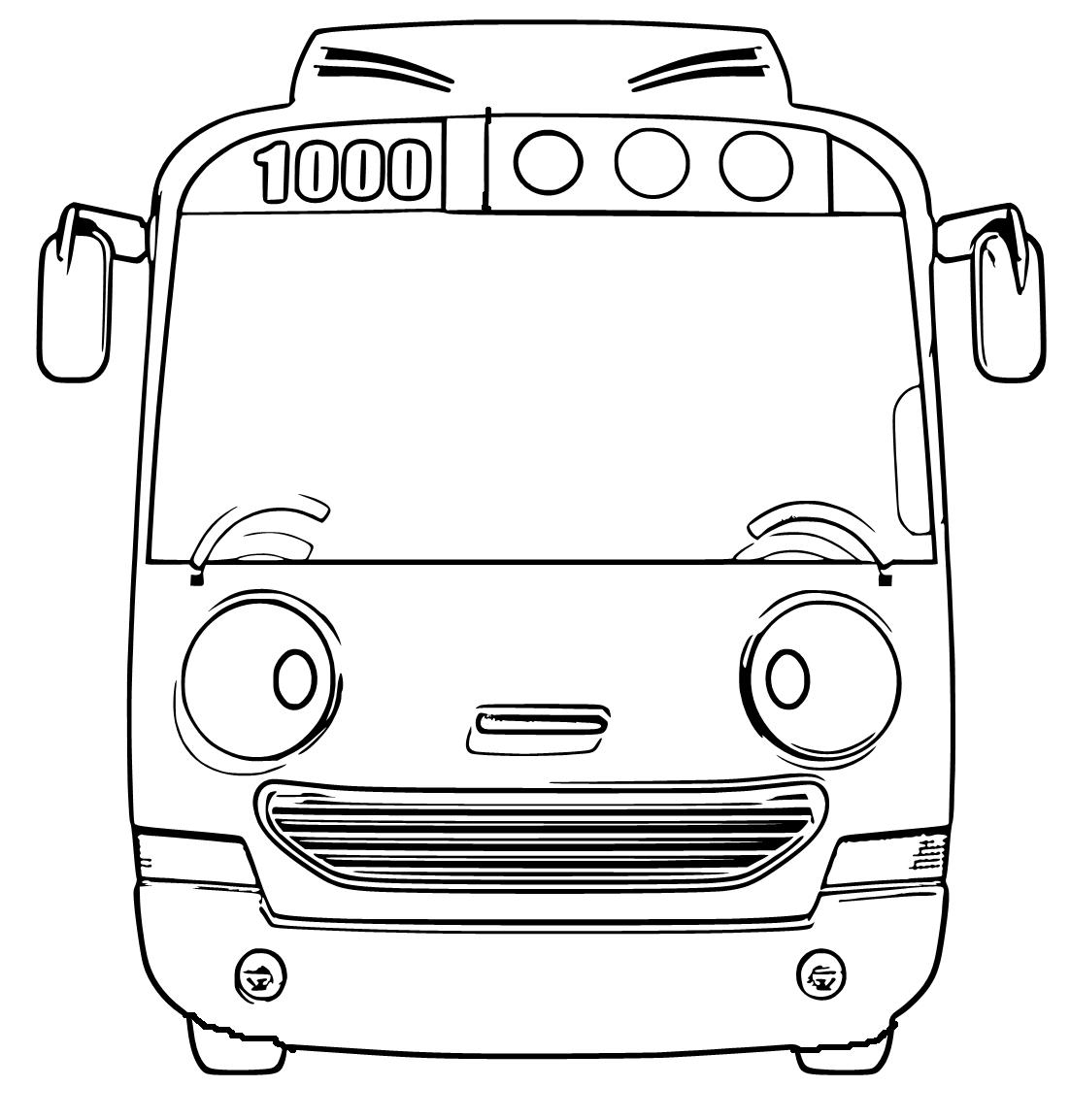 Mewarnai Gambar Bus Rogi Aneka Mewarnai Gambar
