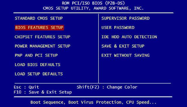 Cara masuk BIOS