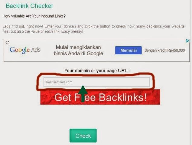 Cara Cek jumlah backlink