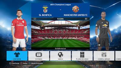 PES 2018 PS4 Option File by Emerson Pereira Season 2017/2018