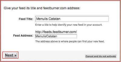 Cara Membuat Akun Feedburner Untuk Blogspot Dengan Benar