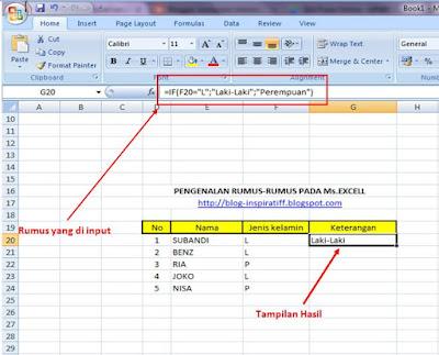 Rumus-rumus dasar pada Microsoft Excel part07