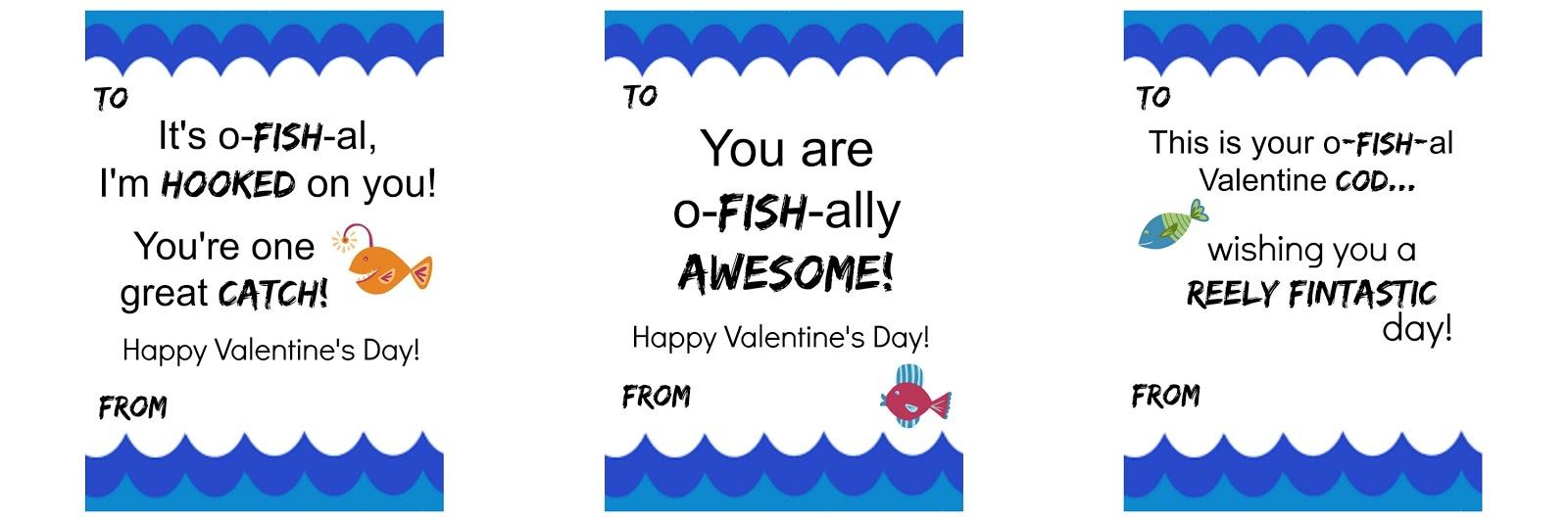 Michelle Paige Blogs 10 Fish PUN Printable Valentines