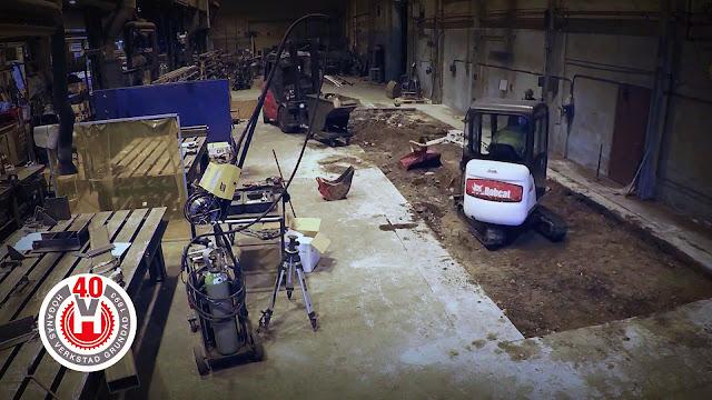 Подготовка бетонного основания под роботизированный сварочный комплекс
