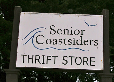 Sign for Senior Coastsiders Thrift Store