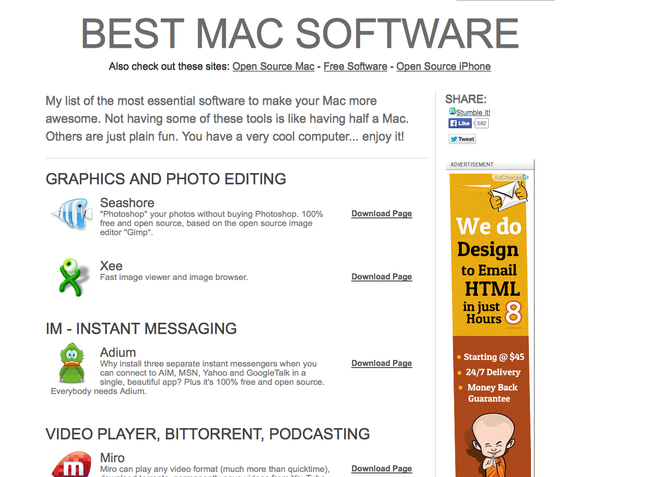 My Recommended Resources For Freeware On Your Mac