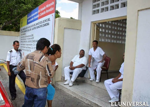Médicos cubanos no hospital geral Guarenas Guatire