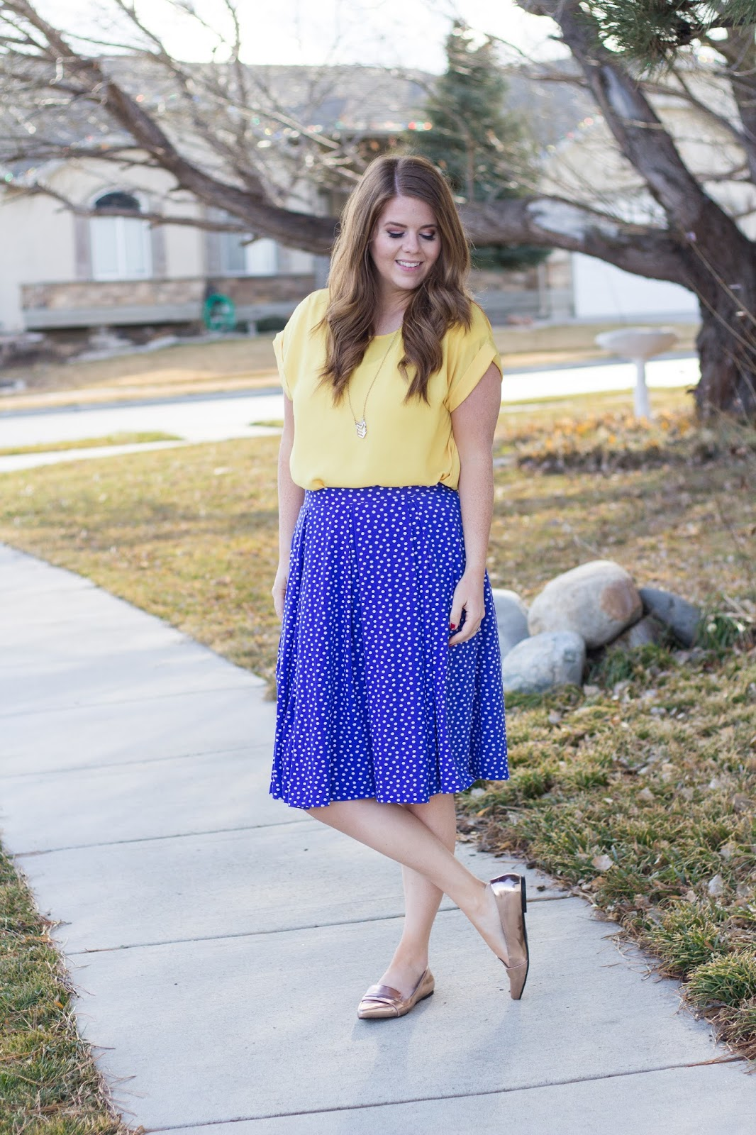 polka dot lula roe madison skirt