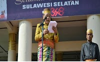 Pimpin Upacara HUT Sulsel ke-348, Supriansa Kenakan Pakaian Adat Bugis