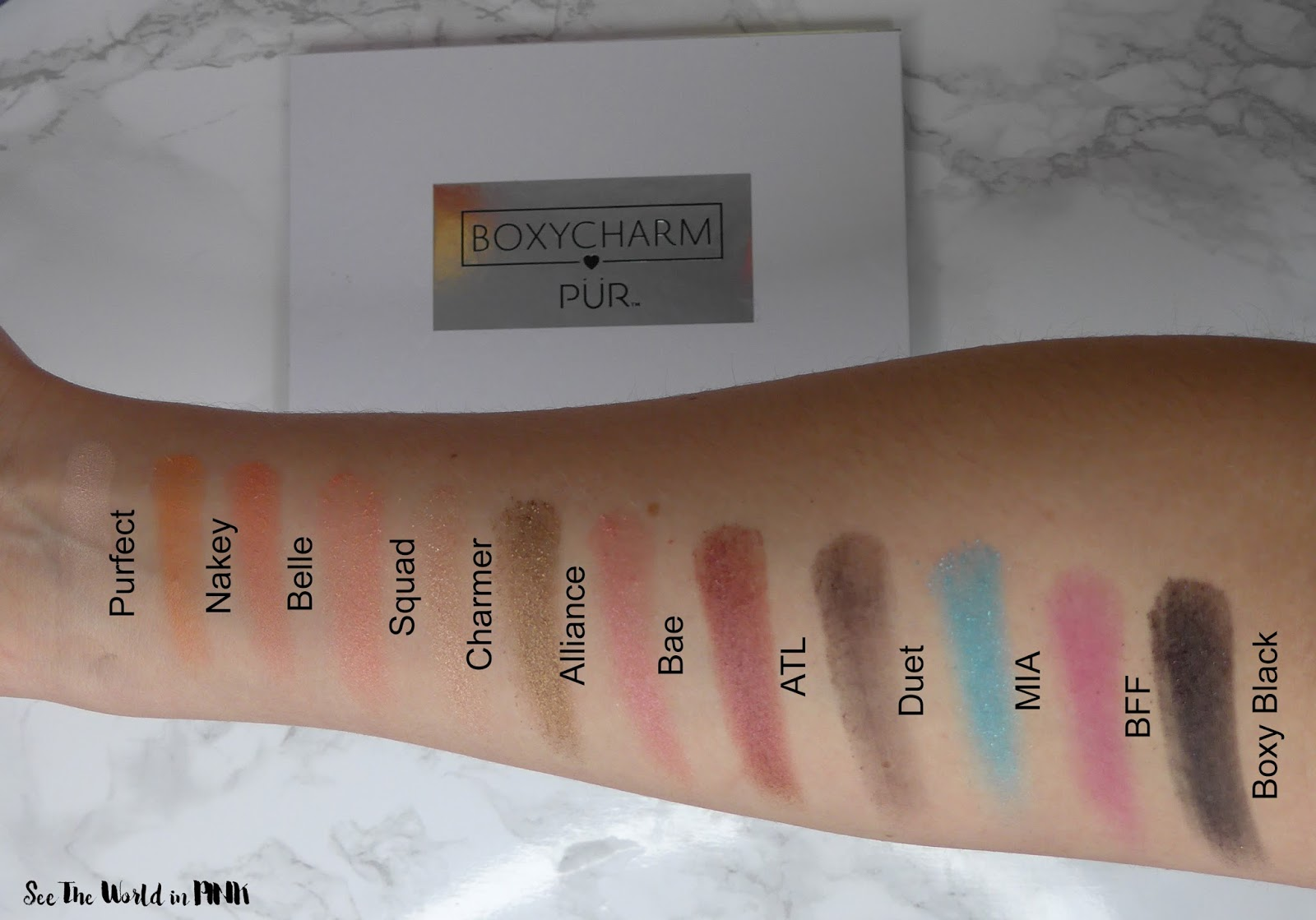 March 2018 Boxycharm - Unboxing, Swatches, Review, and Full Make-up Look!